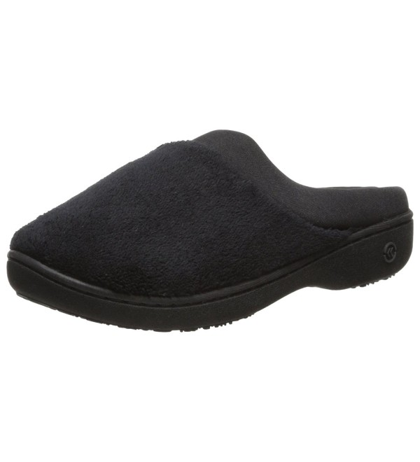 Isotoner Classic Microterry Hoodback Slippers
