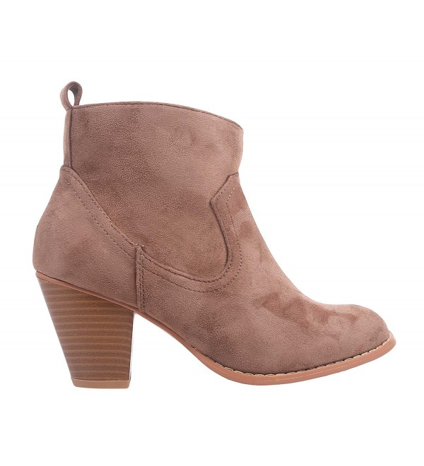 Women Ankle Boots Zipper Suede