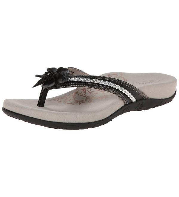Aetrex Womens Selena Flower Sandal