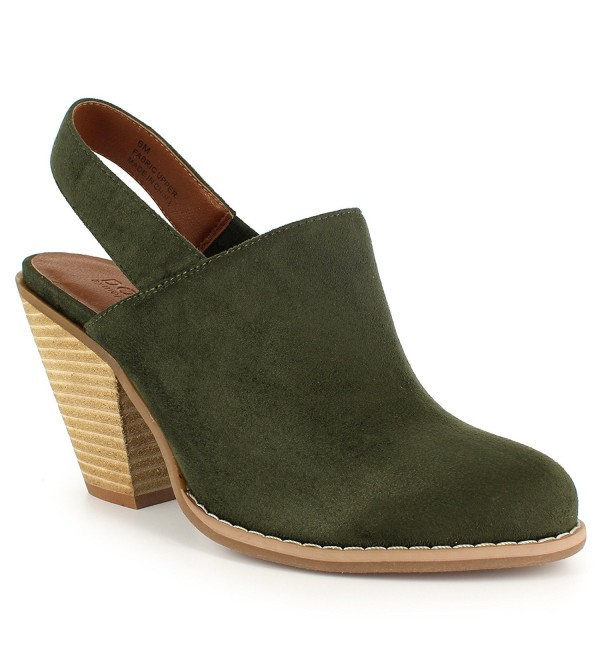 Dolce Womens Slingback Clog Army