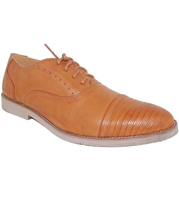 ARTISTS Leather Lined Burnished Oxfords