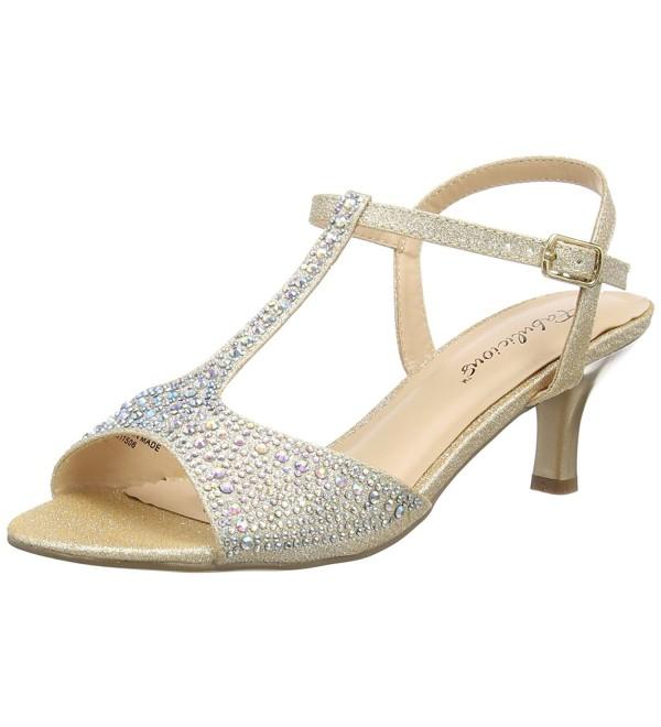 Pleaser Womens Heeled Sandal Shimmering