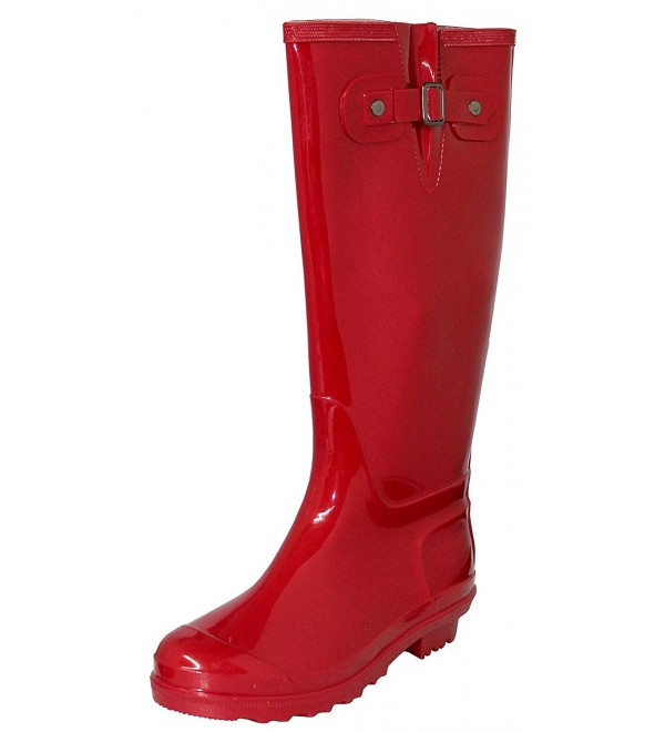 Womens Rubber Waterproof Boots Inches