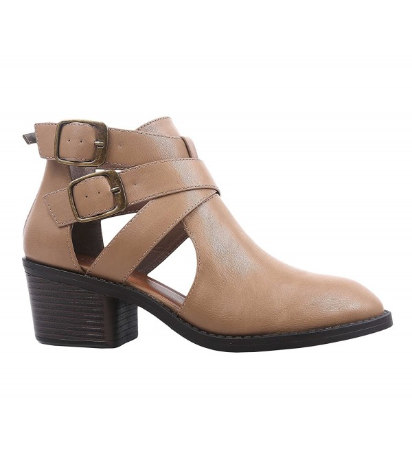 Fashion Leather Ankle Booties Womens