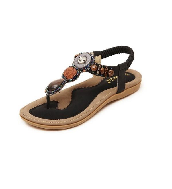 Jazlyn Womens Bohemian Gemstone Sandals