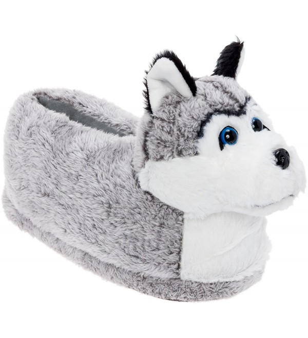 Silver Lilly Siberian Husky Slippers