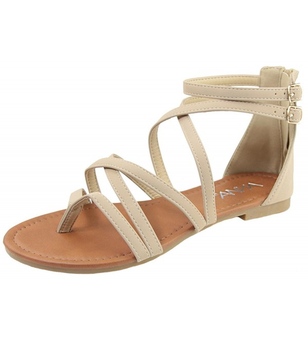 Anna Shoes Womens Strappy Buckle