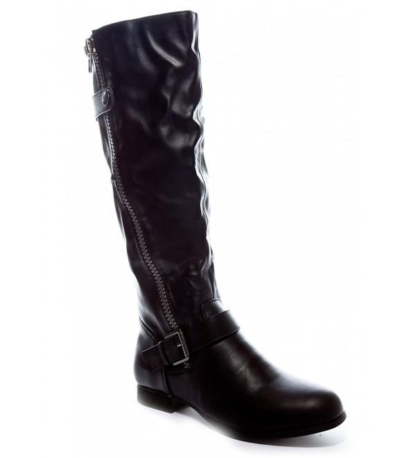Charles Albert Womens Low Heel Knee High