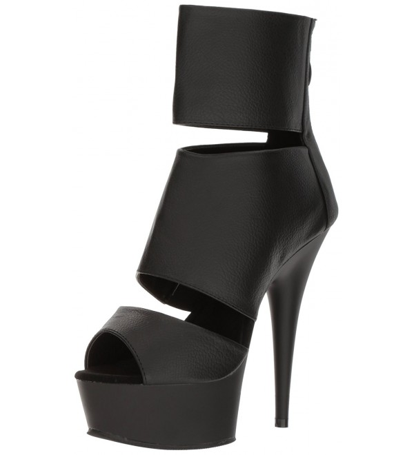 Pleaser Womens Del600 16 Bootie Leather