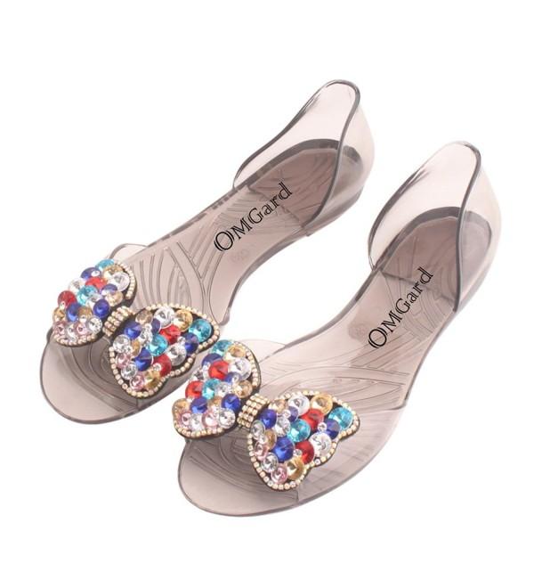 OMGard Summer Transparent Sandals Crystal