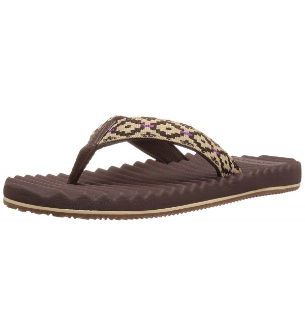 Freewaters Womens Sandal Brown Lavender