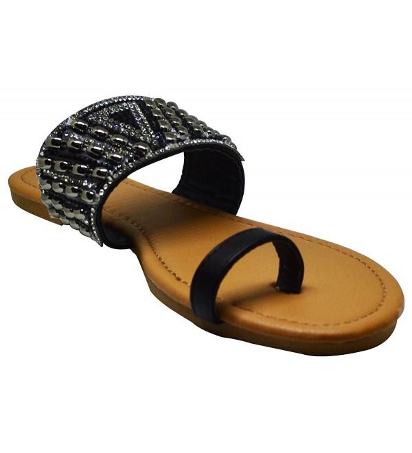 Qupid Gem 16 Womens Rhinestone Sandals