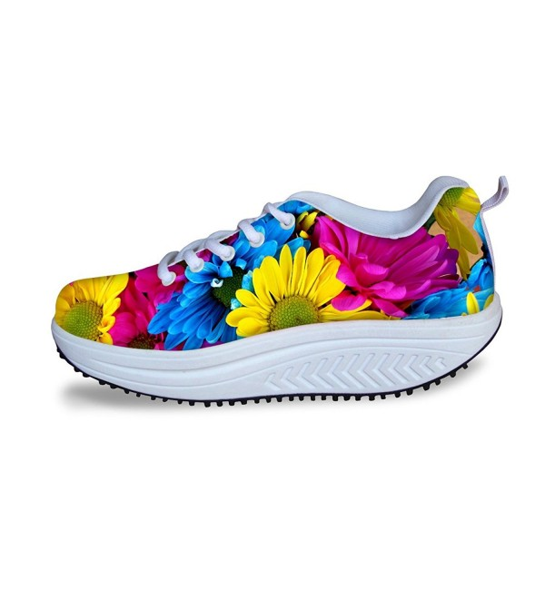DESIGNS colorful Platform Exercise Sneakers