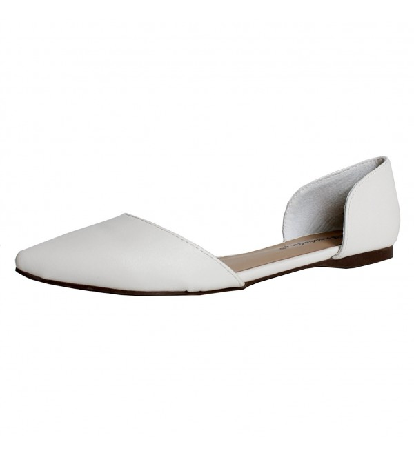 Breckelles Dolley 42 Ballet Flats White Pu
