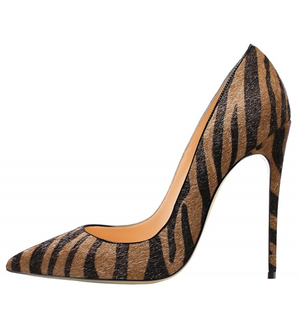 Guoar Womens Stiletto Pointed Patent