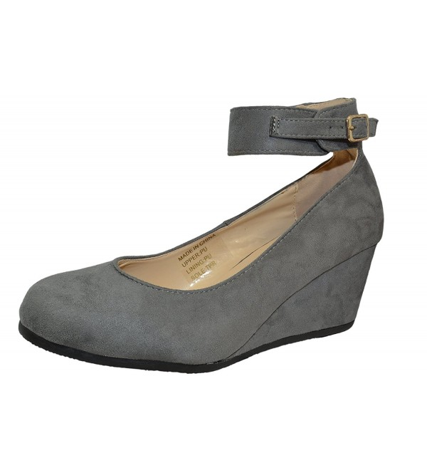 7fce8d77c2d ... Faux Suede Wedge Pump Shoes - Grey - C2186CT63RO. On sale! New. Haphop  Womens Almond Ankle Strap