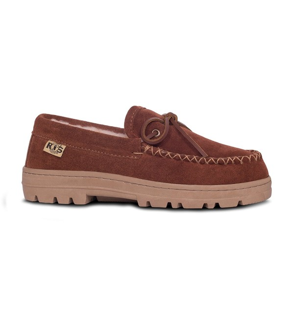 RJs Fuzzies Sheepskin Moccasins Chestnut