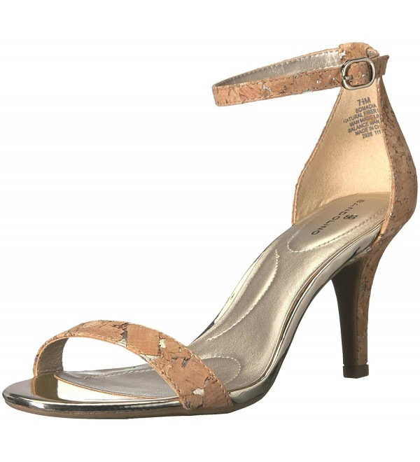 Bandolino Womens madia Cork Metallic