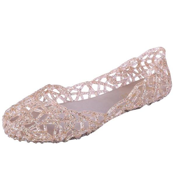 Glaze Womens Cutout Glitter Ballet