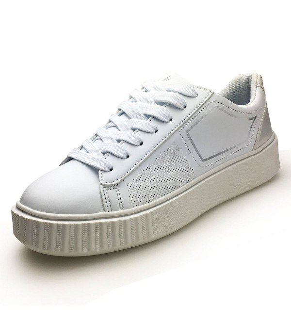 XiaoYouYu Leather Fashion Sneakers Platform