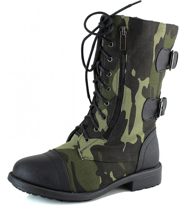 Womens Camouflage Combat Black Ankle