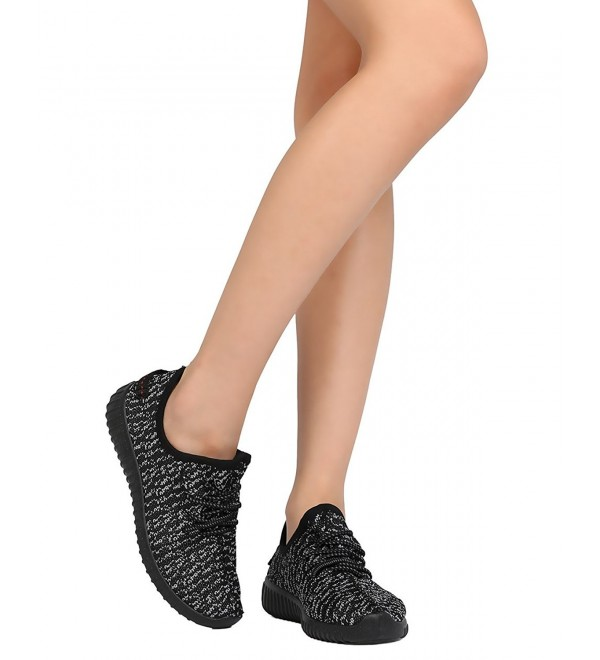 Wild Diva Fabric Knitted Sneaker