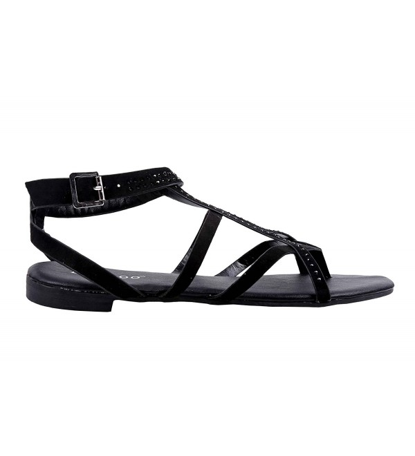 weyoh Gladiator Rhinestones Closure Sandals