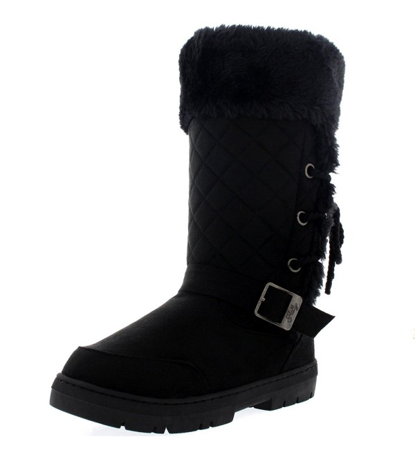 Womens Roap Buckle Winter Boots