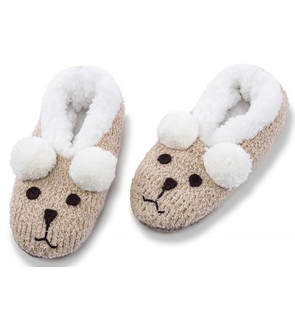 MaaMgic Womens Christmas Slippers Bedroom