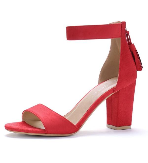 Allegra Womens Chunky Tassel Sandals
