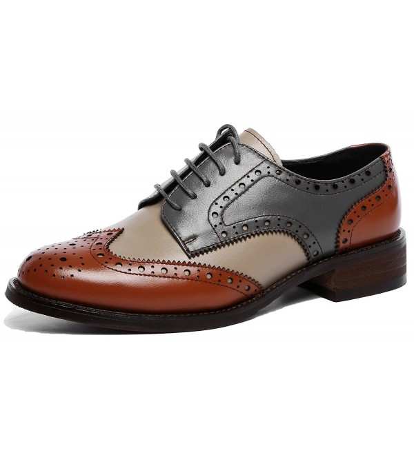 U lite Perforated Lace up Wingtip Brownblue