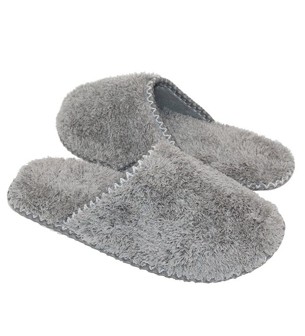 MKY Womens Fleece Memory Slippers