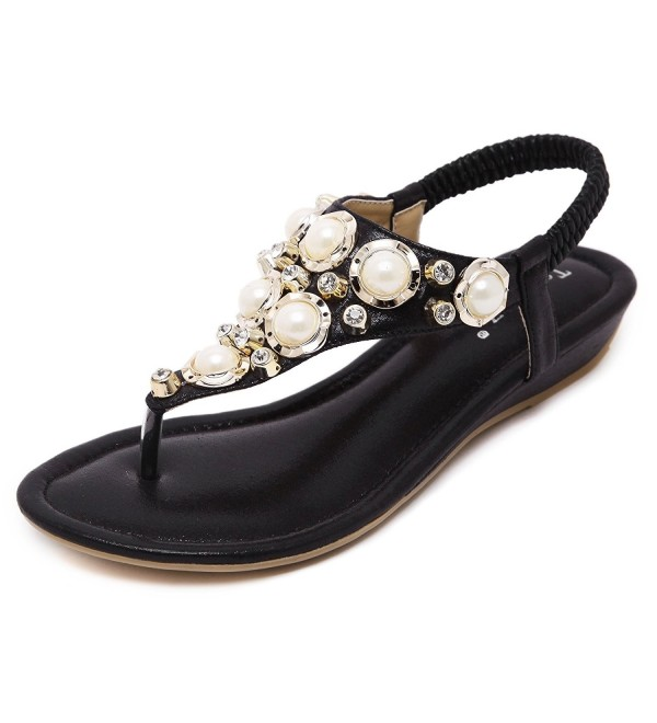 919d8c6a5 ... Flip Flops Summer Beach Thong Flat Sandals Shoes - Black - CB183Y6YA63.  On sale! New. Meehine Womens Elastic Sparkle Sandals
