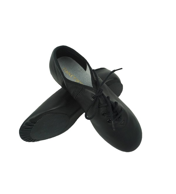 DANCEYOU Lace Up Leather Upper Split