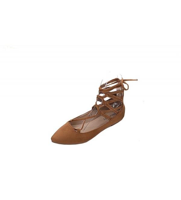 Mila Lady Fashion NewAnkle Shoes CAMEL