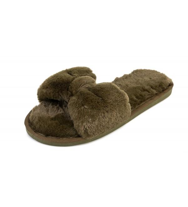 Havina Womens Heeled Slides Slippers