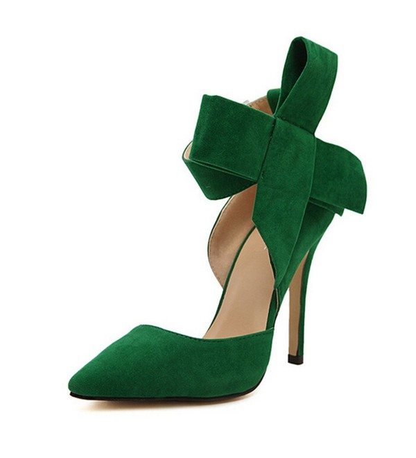 Pointy Suede Womens Shoes Bowknot