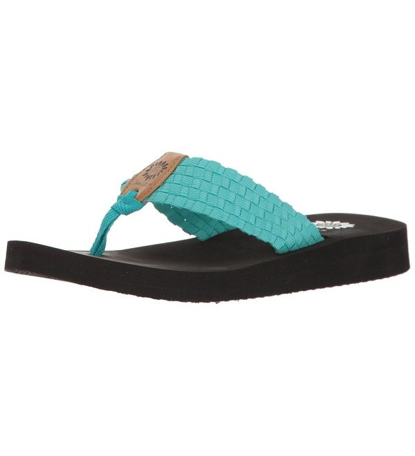 Yellow Box Womens Flip Flop Turquoise