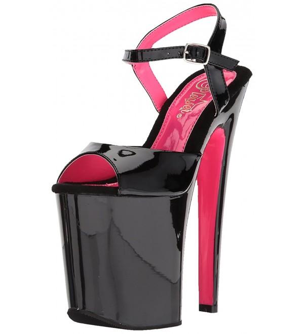 Pleaser Womens Xtreme 809TT Sandal Pat Wht