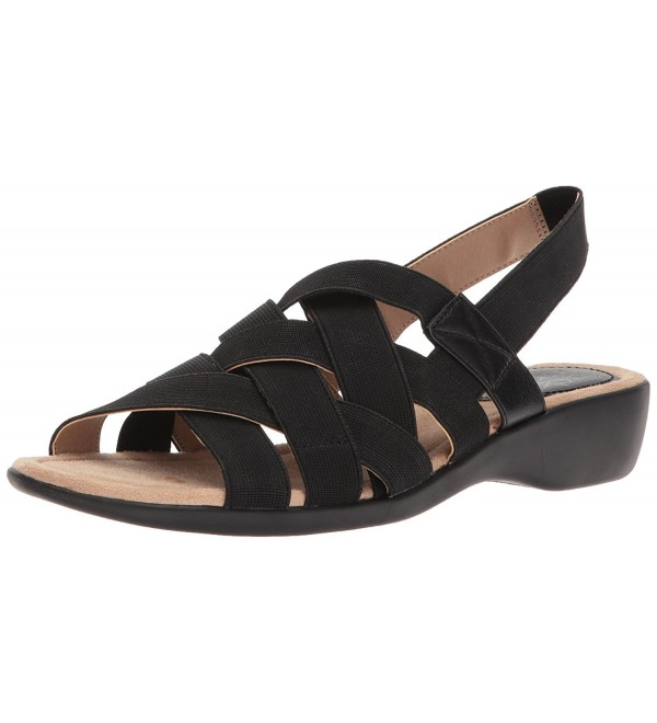 LifeStride Womens Trip Sandal Black