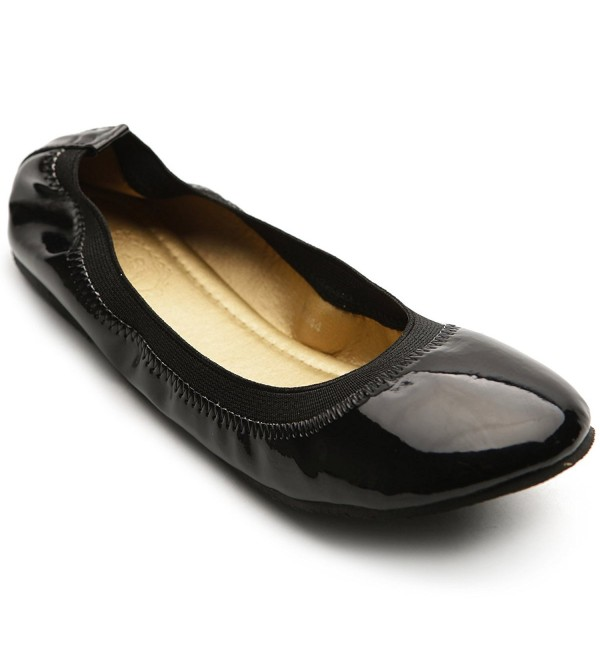 Ollio Womens Ballet Comfort Enamel