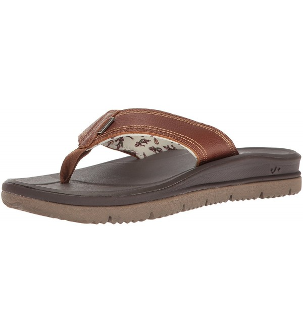 Freewaters Mens Leather Sandal Brown