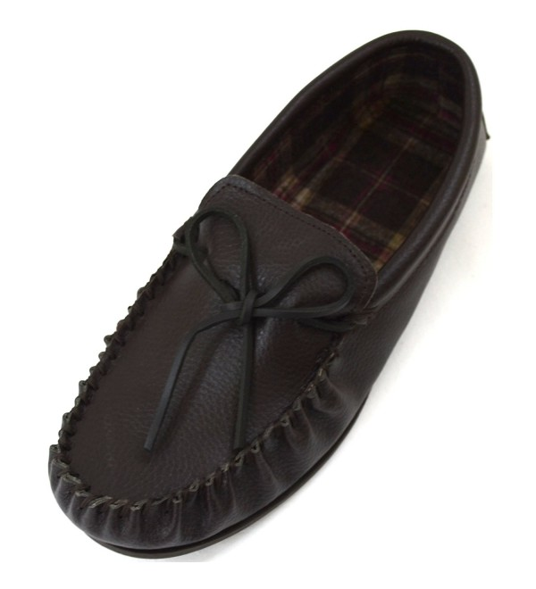 Snugrugs Leather Moccasin Slippers Cotton