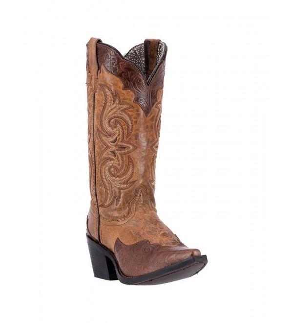 Laredo Womens Ginger Leather Cowboy