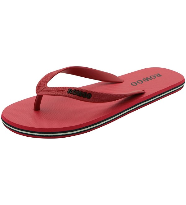 Mens Sandals Striped Beach Flip Flops