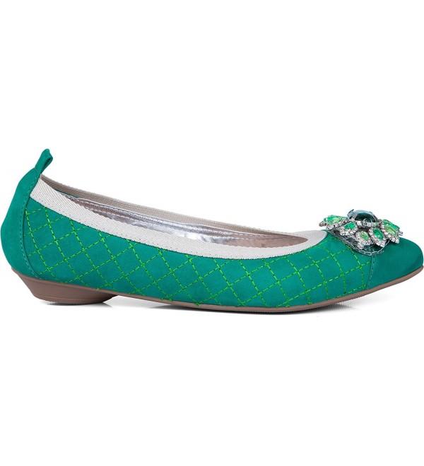 Green ballet pointed rhinestone accent
