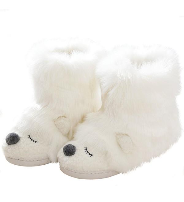 Fleece Stuffed Slippers Outdoor Anti Slip