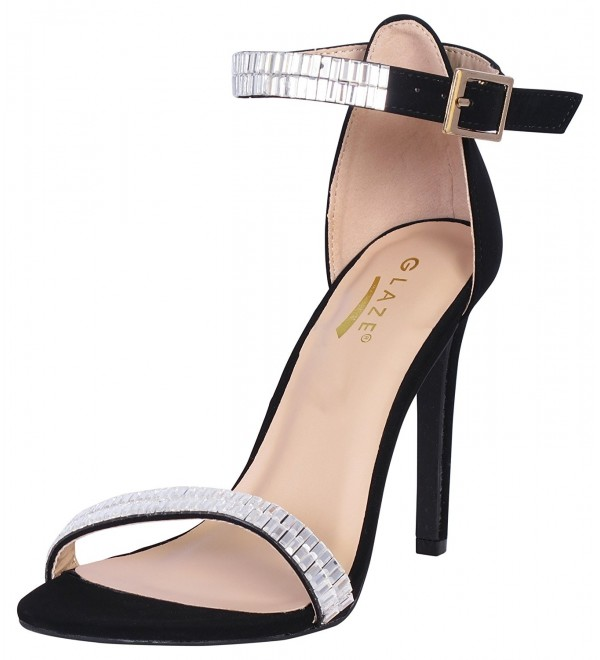 Glaze Women s Stiletto Plated Sandals