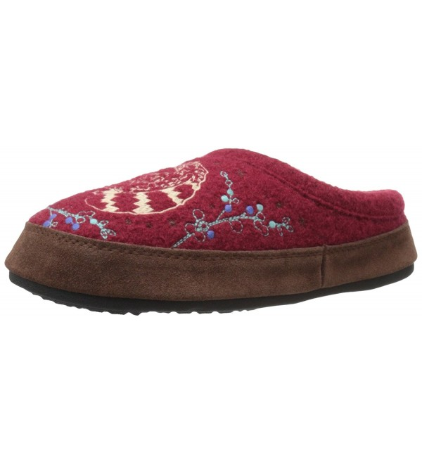 Womens Forest Slipper Raccoon 6 5 7 5
