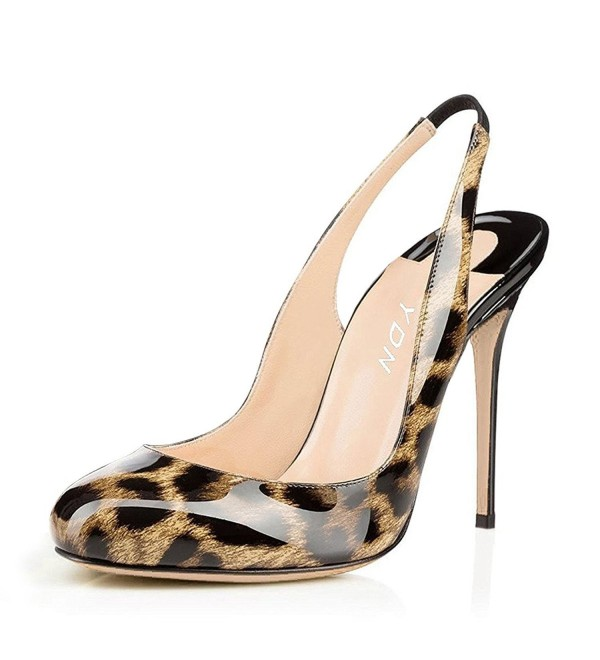 YDN Leopard Slingback Patent Evening